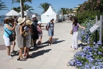 Promenade commentee du littoral c te d 39 azur france - Office de tourisme saint laurent du var ...